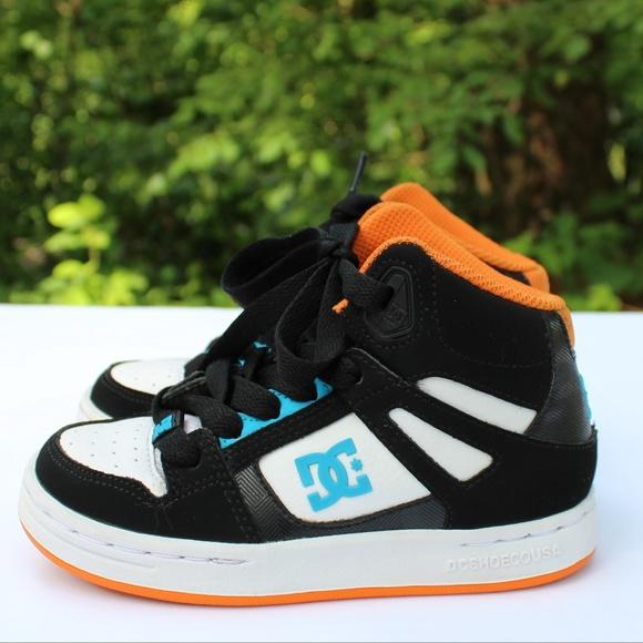 3fe39b2d58 DC Youths Rebound Skateboard Shoe High Top Sz 11